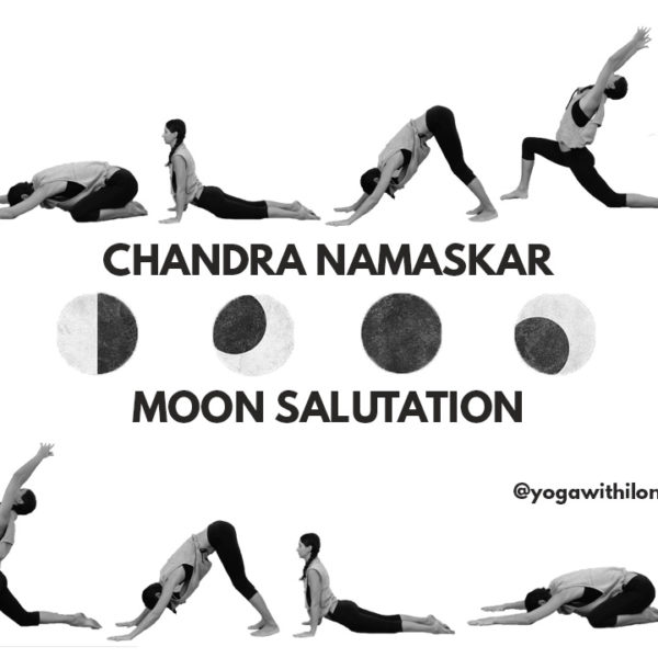 Chandra Namaskar || Moon Salutation || Yoga With Ilona
