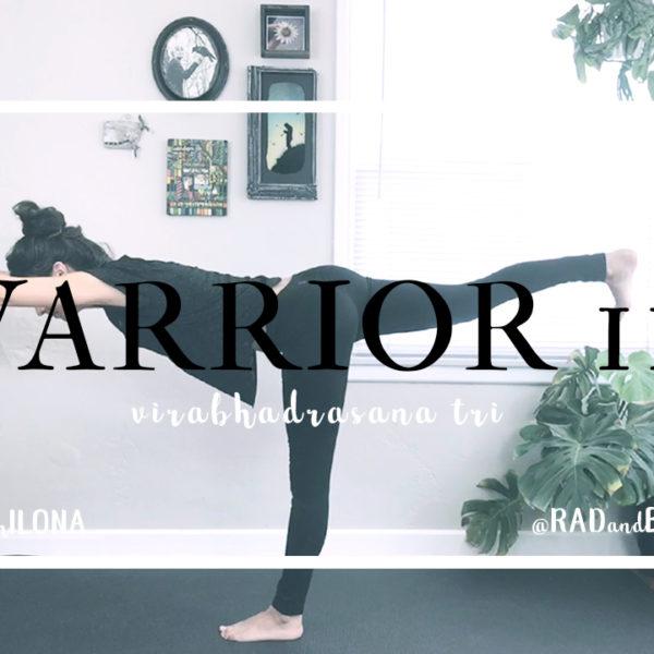 Warrior III || Virabhadrasana Tri