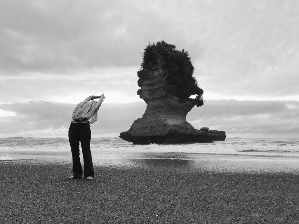 New Zealand Yoga Pose Ilona Barnhart on the South Island