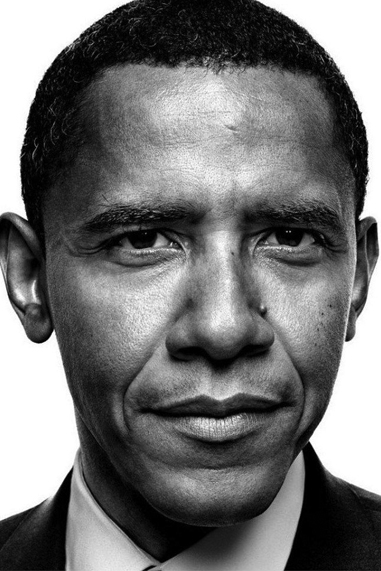 Barack Obama black and white famous human design Projector