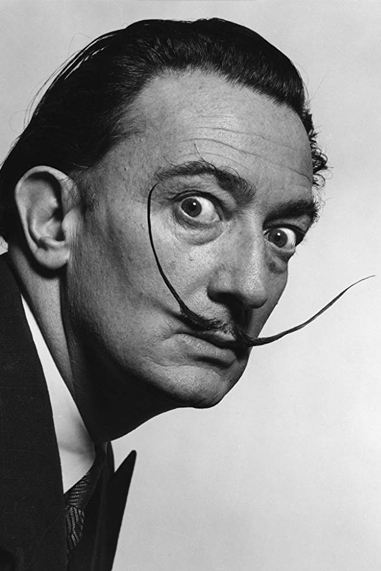 Salvador Dali black and white famous human design Projector