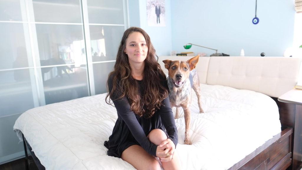 Ilona Barnhart Human Design Reader in Oceanside California with her blue heeler puppy